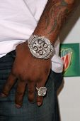 Busta Rhymes's jewelry   at Spike TV's 2008 'Video Game Awards'. Sony Pictures Studios, Culver City,