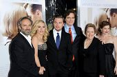 L-R Sam Mendes, Kate Winslet, Leonardo DiCaprio, Michael Shannon, Kathy Bates and Kathryn Hahn   at