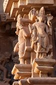 image of kandariya mahadeva temple  - Sculptures of Kandariya Mahadeva Temple dedicated to Lord Shiva Western Temples of Khajuraho India - JPG