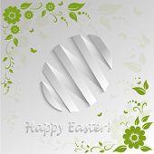 Vector easter egg on white background