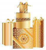 Gold Christmas Presents
