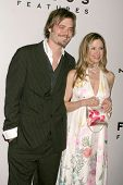Christopher Backus and Mira Sorvino  at the NBC, Universal and Focus Features Golden Globe Awards After Party. Beverly Hilton Hotel, Beverly Hills, CA. 01-11-09