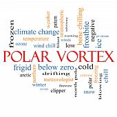 Polar Vortex Word Cloud Concept