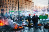 Barricades With The Protesters At Hrushevskogo Street In Kiev
