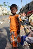 Streetside Beggar Girl