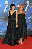 Tina Evette Atkins and Erica Monique Atkins  at the 40th NAACP Image Awards. Shrine Auditorium, Los Angeles, CA. 02-12-09