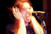 Aggressive Singer In Studio