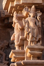 picture of kandariya mahadeva temple  - Sculptures of Kandariya Mahadeva Temple dedicated to Lord Shiva Western Temples of Khajuraho India - JPG