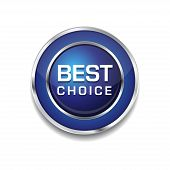Best Choice Glossy Shiny Circular Vector Button