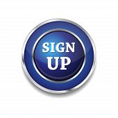 Sign Up Vector Button Icon