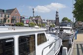 Netherlands - Lemmer - Media July 2014: Pleasure Yachts In The Port Of Lemmer In Friesland.