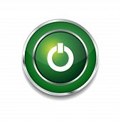 Power Circular Vector Green Web Icon Button