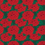 Seamless background. Red roses