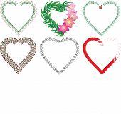 stock photo of macrame  - Set of valentine - JPG