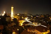 Night view of Antalya Old Town Kaleici, Turkey