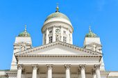 Helsinki cathedral, famous landmark in Finland.
