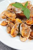 Stir Fried Clams With Roasted Chilli Paste.
