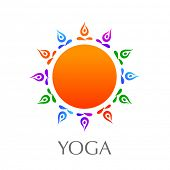 Yoga. Design element. Vector.