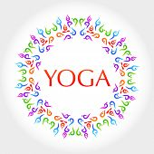 Yoga. The idea for the design. Vector.