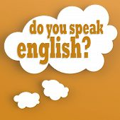 Thought Bubble With Do You Speak English