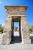 Debod Temple in Madrid. Ancient egyptian temple in Madrid.
