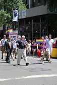 US Senator Chuck Shumer participates at LGBT Pride Parade in New York