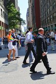 New York State Governor Andrew Cuomo participates at LGBT Pride Parade in New York