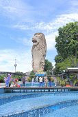 Merlion in Sentosa island Singapore
