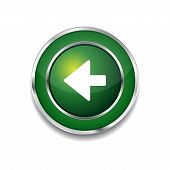 Left Key Circular Vector Green Web Icon Button