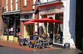 Pavement cafe, Lichfield.