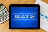 Education Word On Digital Tablet