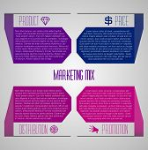 Editable modern template - marketing mix - place(distribution), promotion, price and product