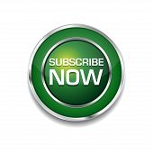 Subscribe Now Glossy Shiny Circular Vector Button