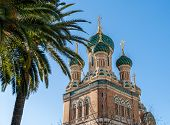 stock photo of nicholas  - St Nicholas Russian Orthodox Cathedral Nice  - JPG