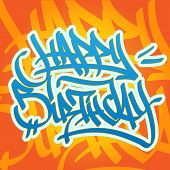 Happy Birthday Graffiti