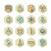 Thin Line Icons For Science And Education