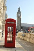 Red phone box and Big Ben, London