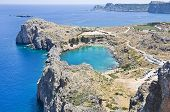 St. Pauls Bay In Lindos, Greece