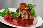Chicken Liver With Raspberry Sauce