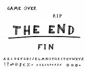 Game over. Hand drawn. Vector eps8
