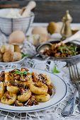 Italian gnocchi with wild mushrooms