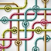 stock photo of pipe-welding  - Colorful metal pipes vector art and illustration for background - JPG