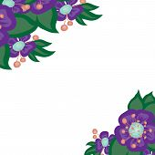 vector beautiful bright floral background