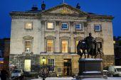 Headquarters Of The Royal Bank Of Scotland, Edinburgh, Scotland, Uk, At Dusk