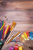 Items for children's creativity, background