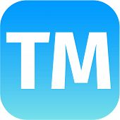 Text Tm Blue Icon For App
