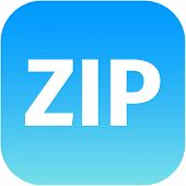 Archive Zip Blue Icon For Apps