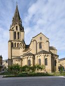 BRIVE-LA-GAILLARDE, FRANCE - SEPTEMBER 9, 2013: Saint-Martin de Brive church on the Charles de Gaull