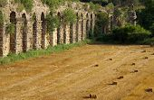 pic of aqueduct  - Roman aqueduct near Manavgat Side in Turkey - JPG