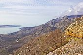 Velebit Mountain Cliffs And Road